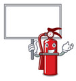 bring board fire extinguisher character cartoon vector image