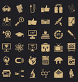 business icons set simple style vector image vector image