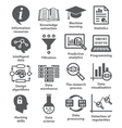 Business management icons Pack 17 vector image vector image