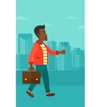 Businessman walking with briefcase vector image vector image