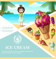 cartoon ice cream colorful template vector image vector image