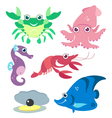 cartoon marine life vector image vector image