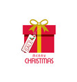 christmas sale tag with gift box vector image