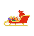 christmas santa sleight with presents winter gift vector image