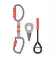 Climbing equipment vector image vector image