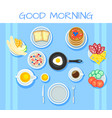 colorful breakfast table concept vector image vector image