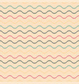colorful seamless wavy pattern - retro vector image