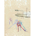 cross-country skiing vector image vector image