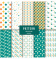 cute pattern collection vector image