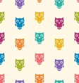 Cute seamless pattern with owls couple Blue and vector image vector image
