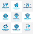 dental label protection template vector image vector image