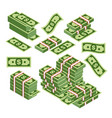 dollars bundles scattered vector image