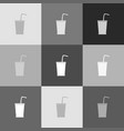 drink sign grayscale version vector image vector image