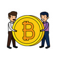 electronic commerce with bitcoin symbol vector image vector image