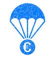 euro parachute grunge icon vector image vector image