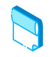 fabric roll isometric icon vector image vector image
