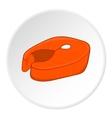 Fish fillet icon cartoon style vector image vector image