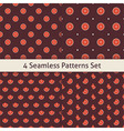 Four Flat Seamless Music Vinyl Disc Patterns Set vector image