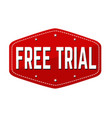 free trial label or sticker vector image vector image