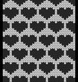 geometric hearts seamless decorative background vector image