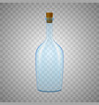 glass bottle on white background vector image
