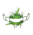 Green Leaf Ribbon Design vector image vector image