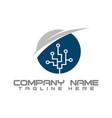 green technology logo designs concept vector image vector image