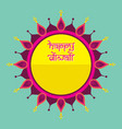 happy diwali traditional indian festival greeting vector image vector image