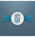 Happy Fathers Day festive Emblem with Ribbon vector image