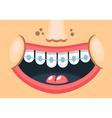 Healthy smile vector image