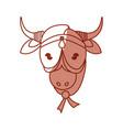 indian sacrew cow cartoon vector image vector image