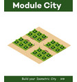 isometric 3d park with a green vector image vector image