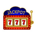 jackpot on a slot machine vector image vector image