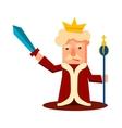 King Cartoon Emotion Set vector image