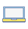 laptop technology electronic equipment icon vector image vector image