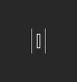 Letter O monogram logo geometric maze shape mockup vector image vector image