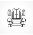 Line icon for front door vector image