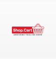 logo shop cart cute cartoon vector image