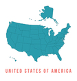 map usa with separable borders vector image