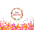 mothers day with flower and butterflies colorful vector image vector image