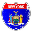 new york flag icons as interstate sign vector image vector image