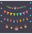 party happy birthday light bulbs vector image