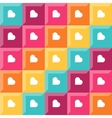 Pattern - diamond shaped elements and hearts vector image