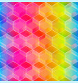 rainbow color mosaic seamless pattern vector image vector image