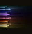 rainbow frequency bar overlap in dark background vector image vector image