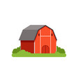 red barn farm building countryside life object vector image