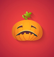 Sad Pumpkin Funny Halloween Carton with Long Shad vector image vector image