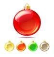 Set of Glossy Christmas balls on white background