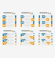set of info-graphic four steps horizontal banner vector image vector image