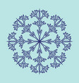 snowflake sign 2311 vector image vector image